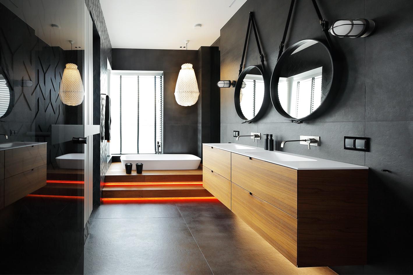 Jaapanipärane esteetika, puhas minimalistlik vormikeel, erilised valguslahendused ning automaatika